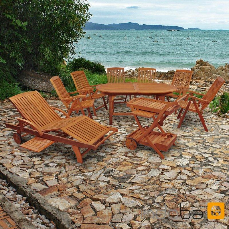 Eukalyptus Gartenmöbel Set Sun Flair, Ambiente, Garten U0026 Wohnen