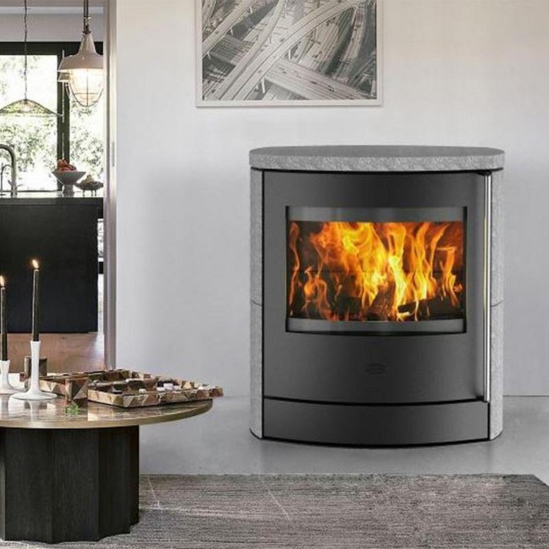kaminofen innenkamin adamis speckstein 7 kw schwarz von fireplace g nstig online kaufen. Black Bedroom Furniture Sets. Home Design Ideas
