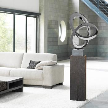 Wood pedestal eichenholzsockel g nstig online kaufen - Skulpturen wohnzimmer ...