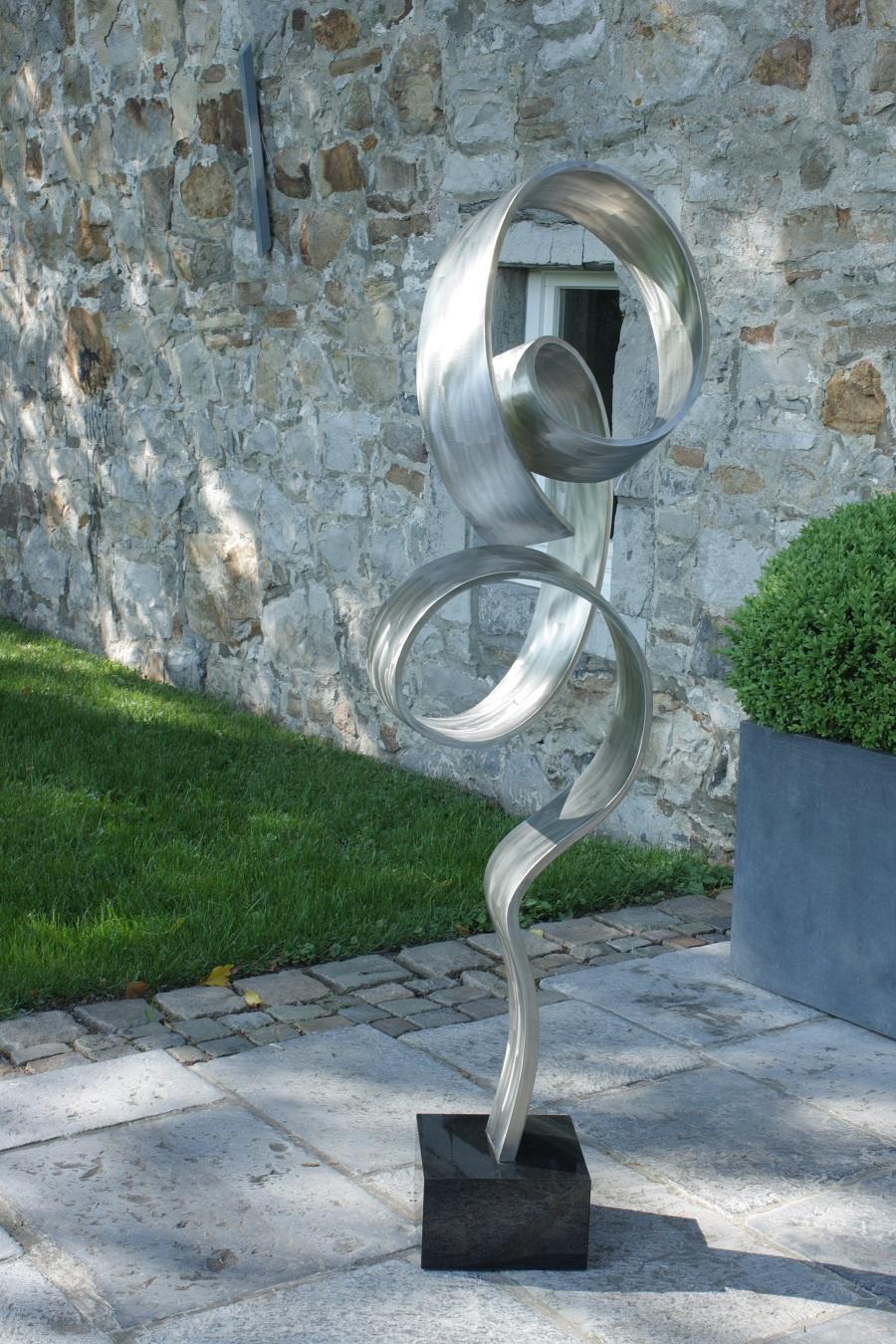pure abstract edelstahl skulptur accessoire g nstig. Black Bedroom Furniture Sets. Home Design Ideas