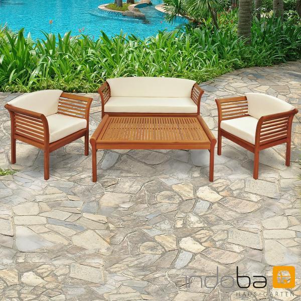Eukalyptus Gartenmöbel Set Samoa, 4-teilig günstig online kaufen